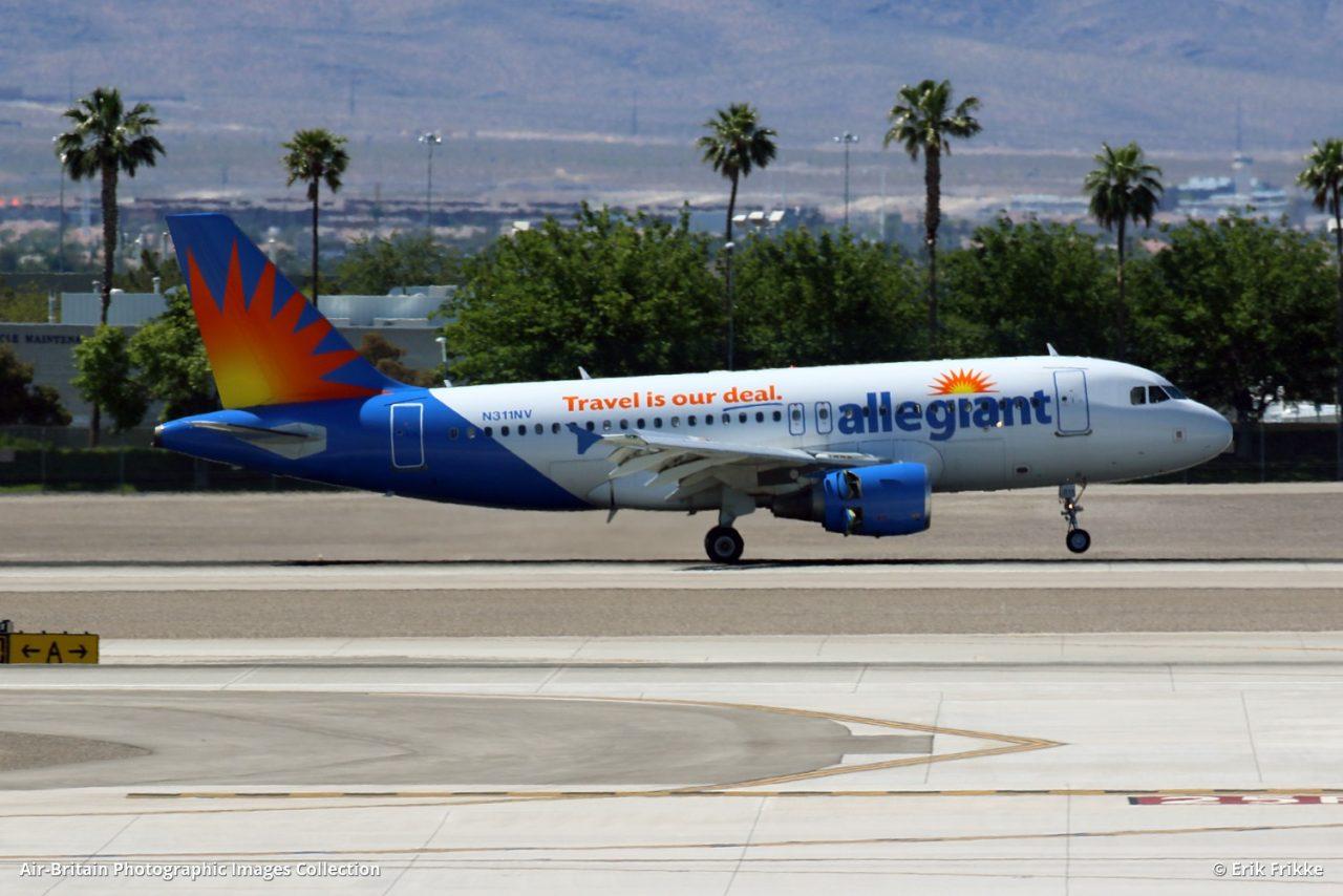 Airbus A319-111 · Allegiant Air (G4 : AAY) · Las Vegas - McCarran International (LAS : KLAS), USA - Nevada @Erik Frikke