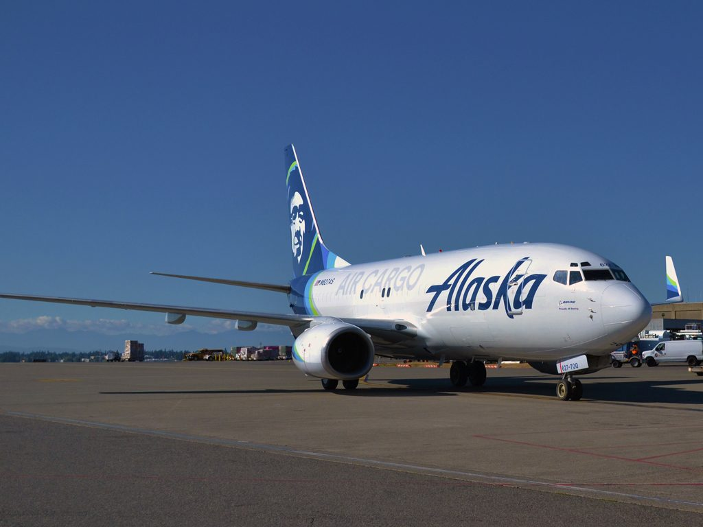 Alaska Air Cargo has introduced its first converted Boeing 737-700 freighter to its fleet