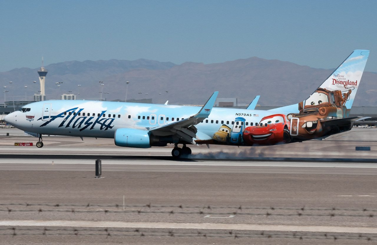 Alaska Airlines Adventures of Disneyland Resort Cars Livery Boeing 737-800 N570AS