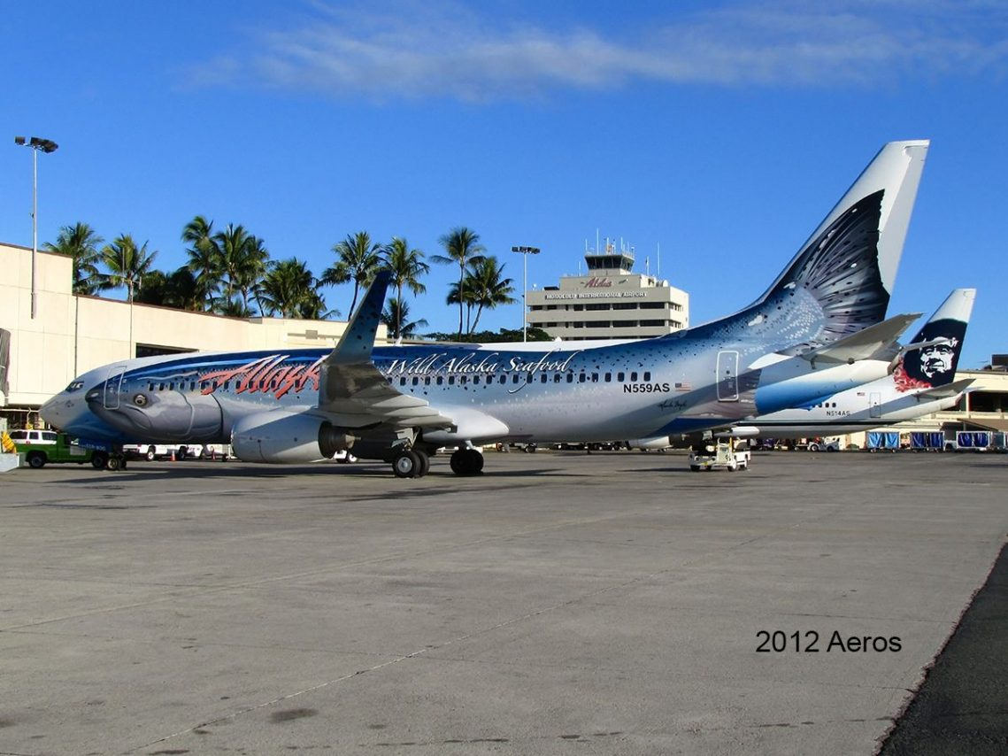Alaska Airlines Salmon Thirty Salmon II spotted in Honolulu