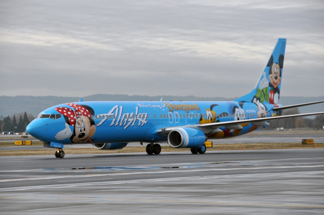 Alaska Airlines Spirit of Disneyland II Fleet Boeing 737-900 Aircraft