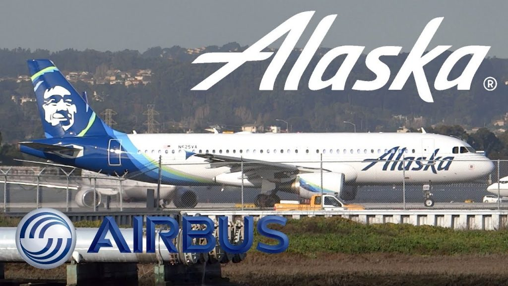 Alaska Airlines Airbus A320-214 N625VA Takeoff from San Francisco International Airport