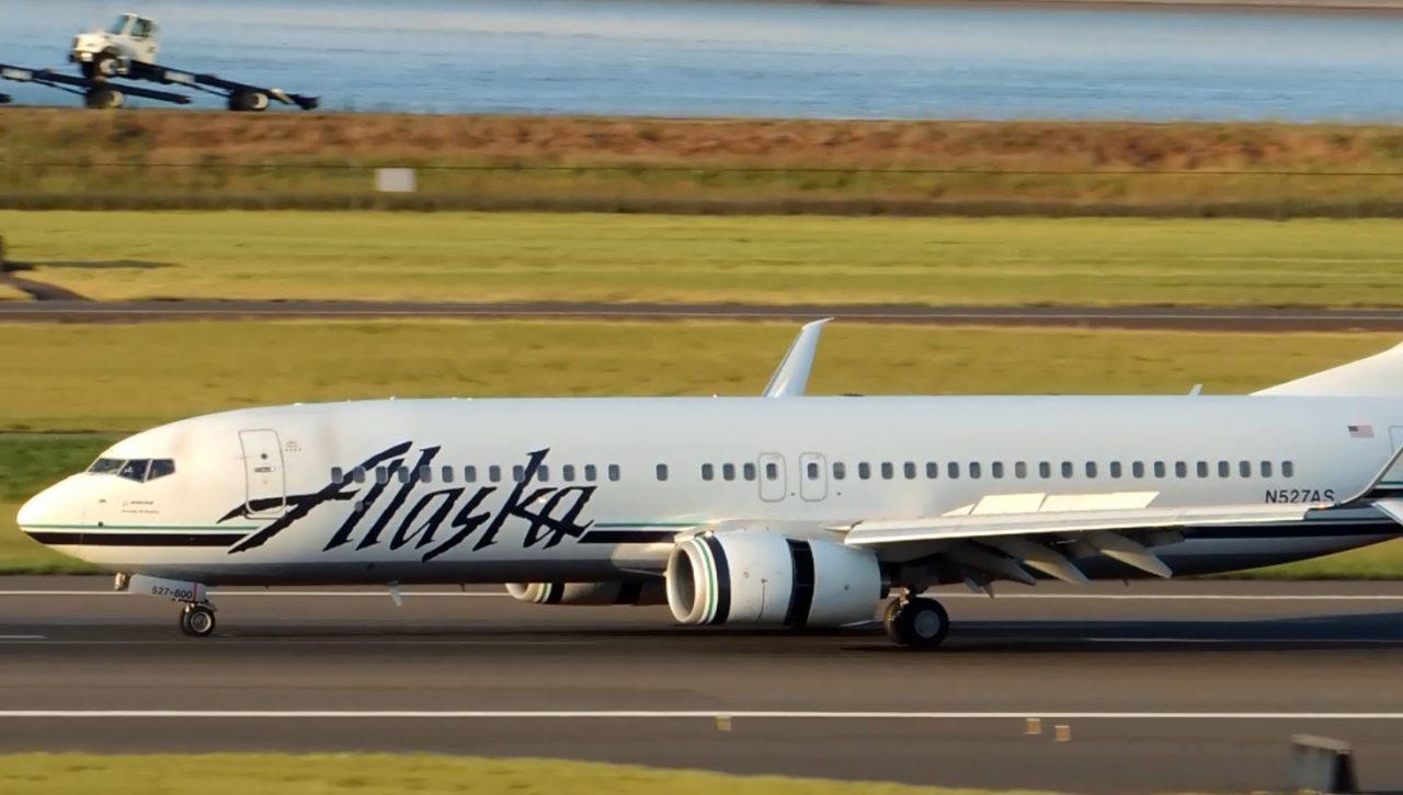 Alaska Airlines Boeing 737-800 at PDX Portland International Airport