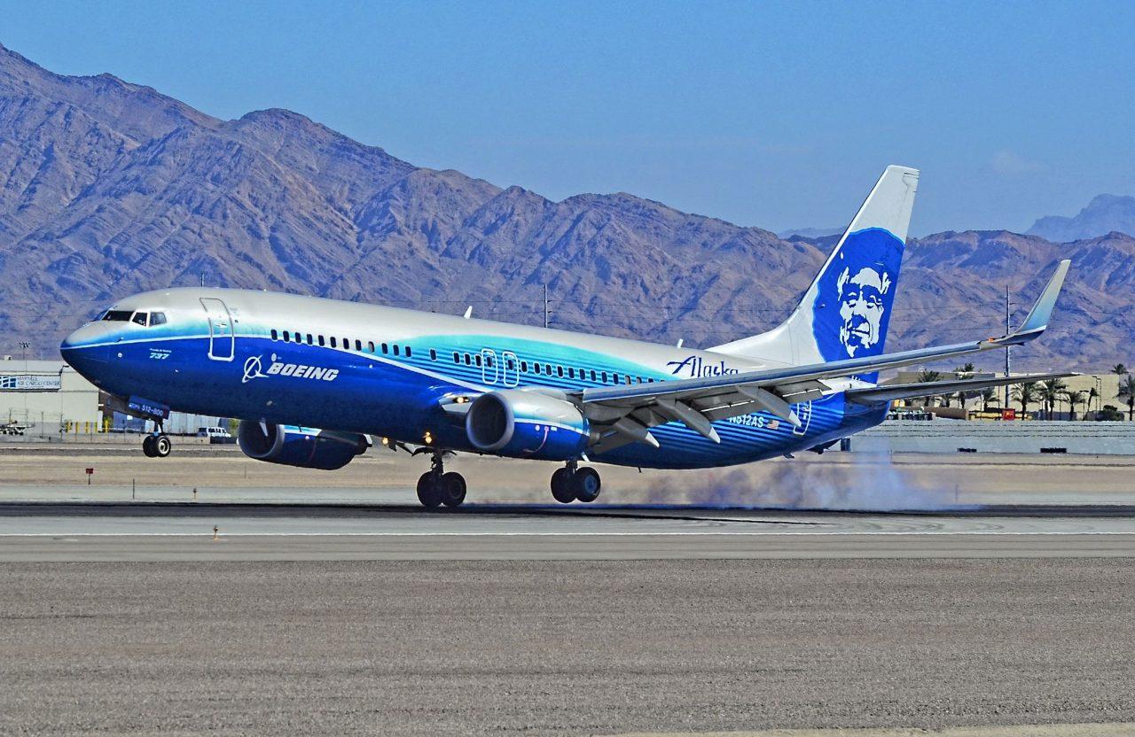 Alaska Airlines Commemorative aircraft Spirit of Seattle plane Boeing 737-800