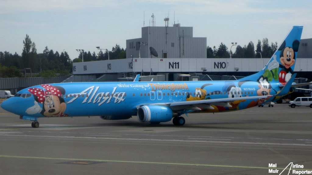 Alaska Airlines Boeing 737-900 in Disneyland Livery - Photo- Mal Muir