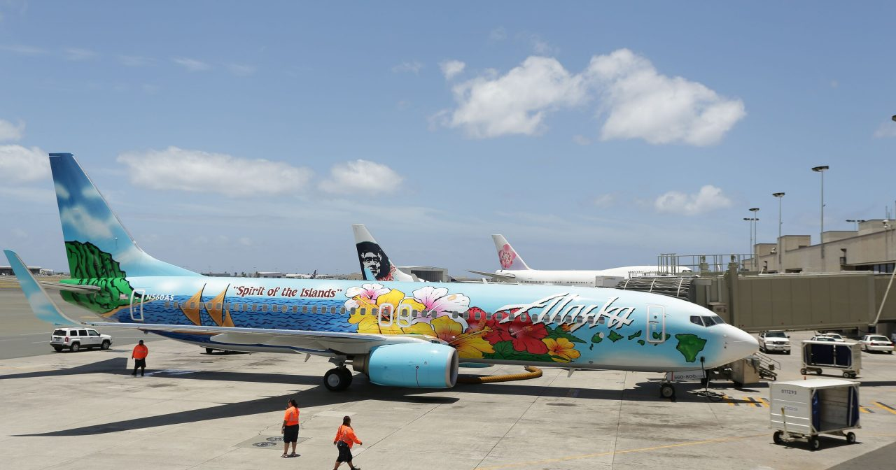 Alaska Airlines Commemorative aircraft Boeing 737-800 Spirit of The Islands livery
