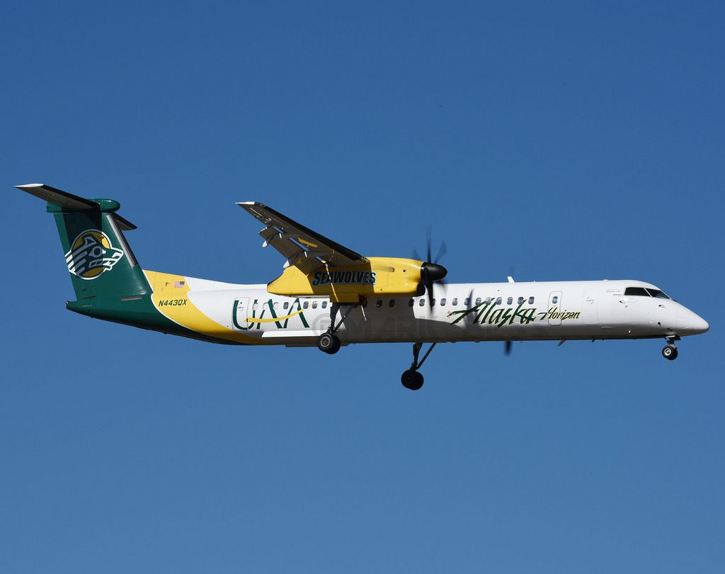 Alaska Airlines (Horizon Air) Fleet Bombardier Dash 8-Q400 Special Livery UAA University of Alaska Anchorage Seawolves