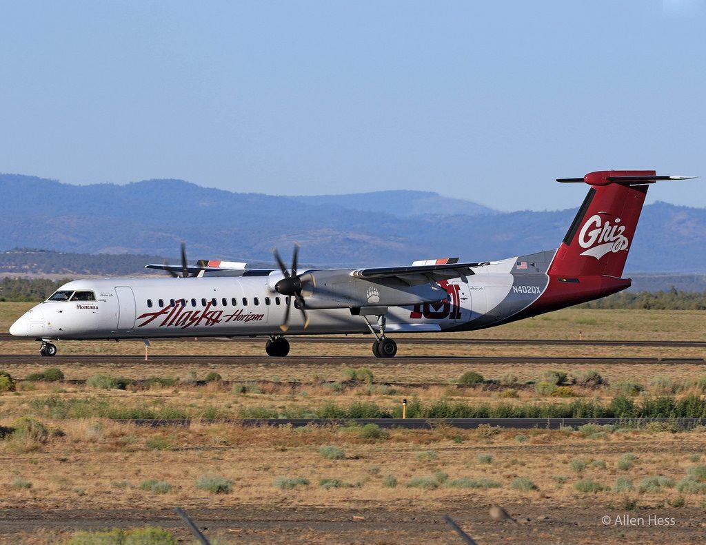 Alaska Airlines (Horizon) Bombardier Dash 8 Q-400 University Of Montana Grizzlies Photos