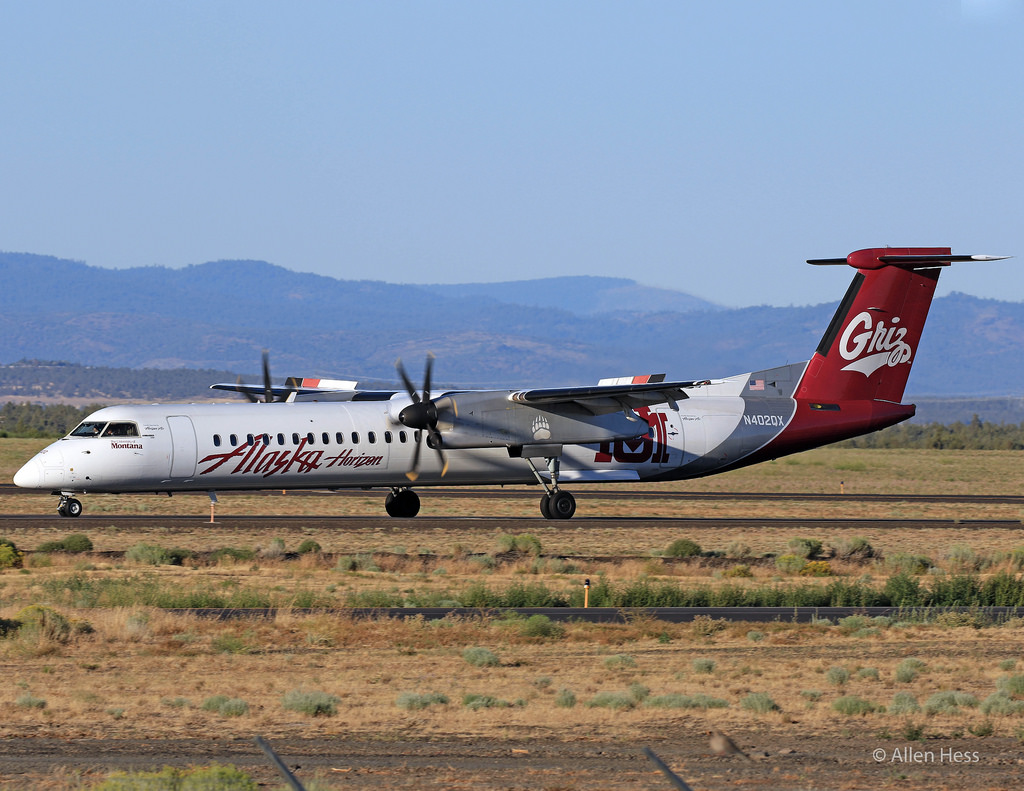 Alaska Airlines (Horizon) Bombardier Dash 8 Q-400 University Of Montana Grizzlies Photos