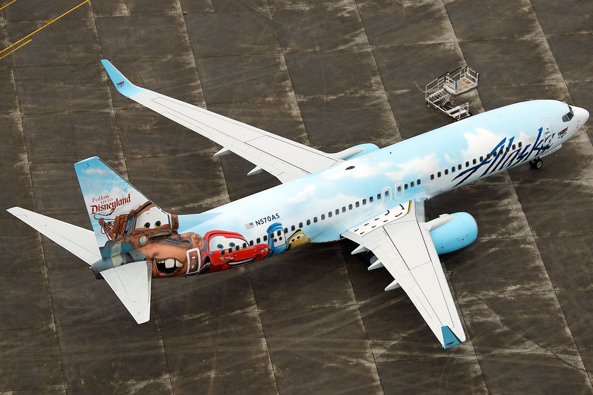 Alaska Airlines New Cars Livery Disney Jet Logo Boeing 737-800
