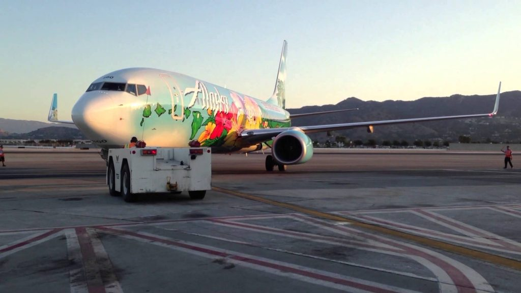 Alaska Airlines Special Aircraft Boeing 737-800 Spirit of The Islands pull back