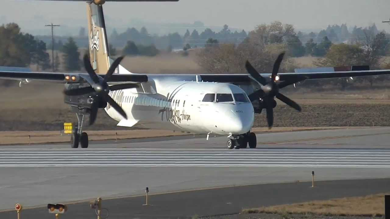 Alaska Airlines Bombardier Dash 8-Q400 University of Idaho Vandals Livery
