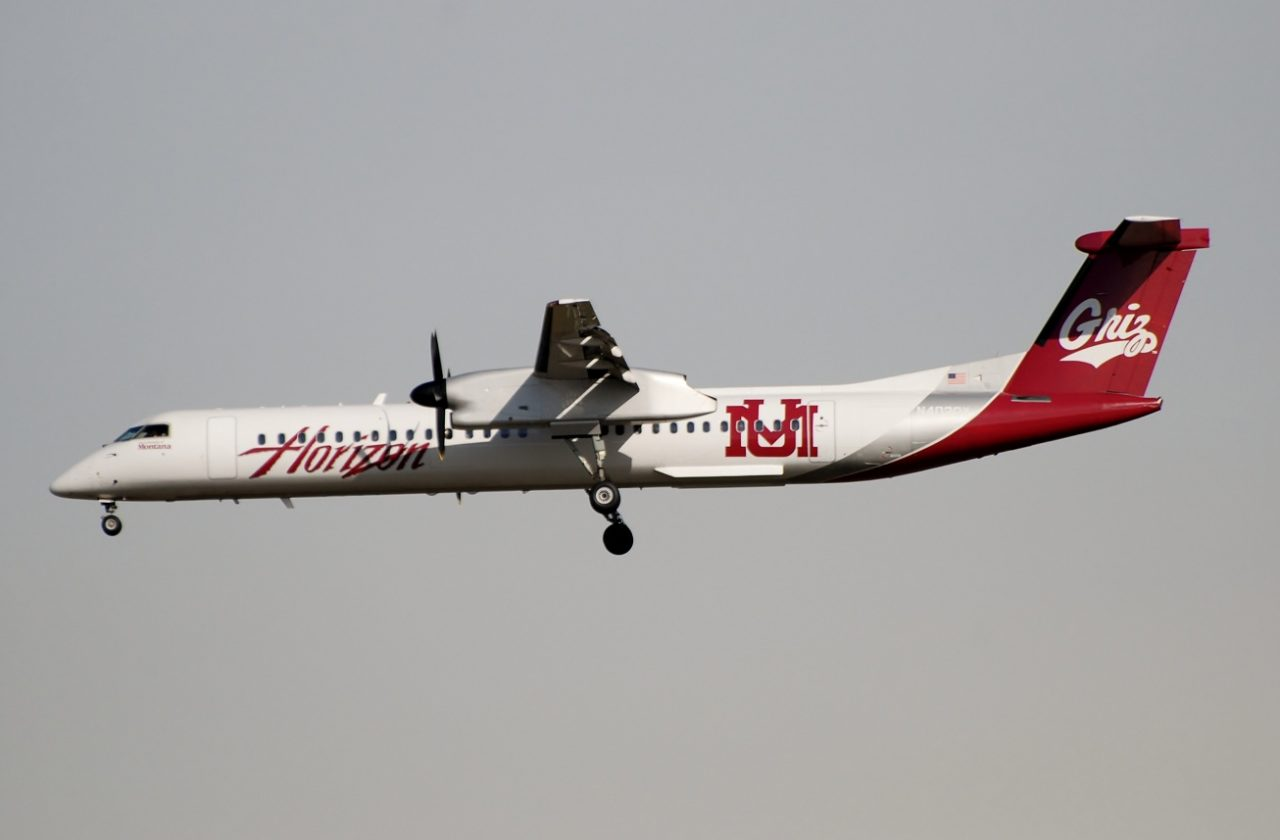 Alaska Horizon Air Dash8-Q400 「University of Montana Grizzlies」