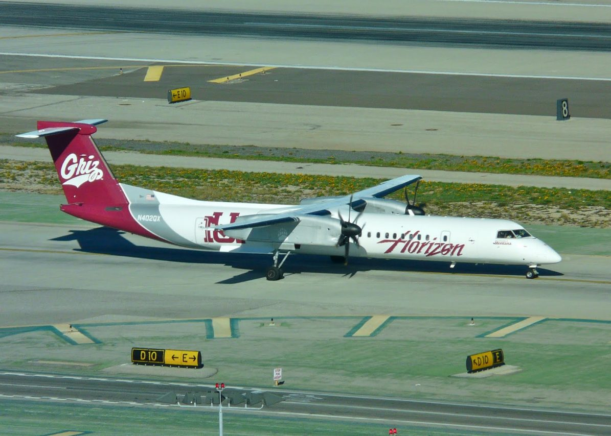 Alaska Horizon Air Fleet Bombardier Dash 8-Q400 University of Montana's Grizzlies Special Livery