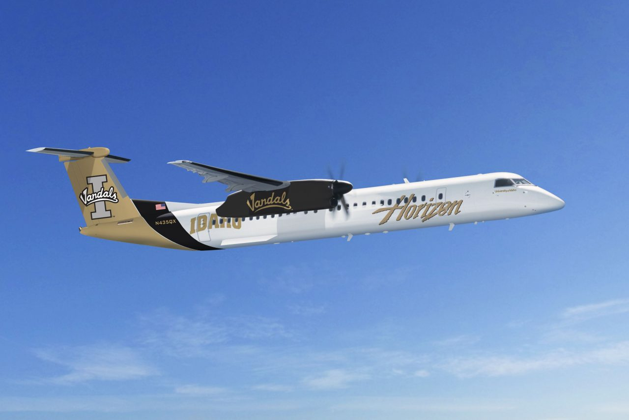 Alaska HorizonAir's latest College themed Bombardier Dash 8-Q400 University of Idaho Vandals Livery