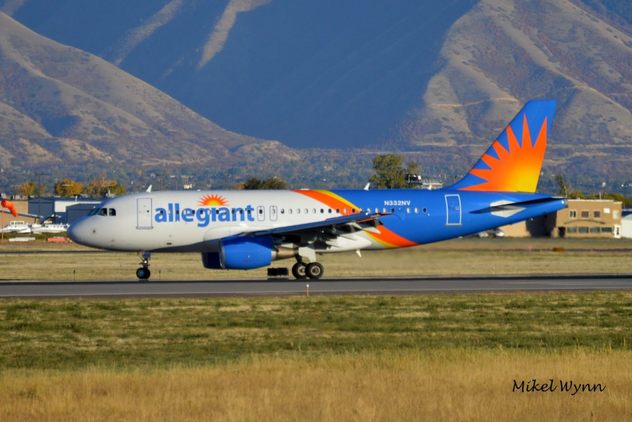 Allegiant Air Airbus A319-111 (N332NV) exiting on A1 after arriving on 31 as AAY132 from Phoenix-Mesa @Mikel Wynn