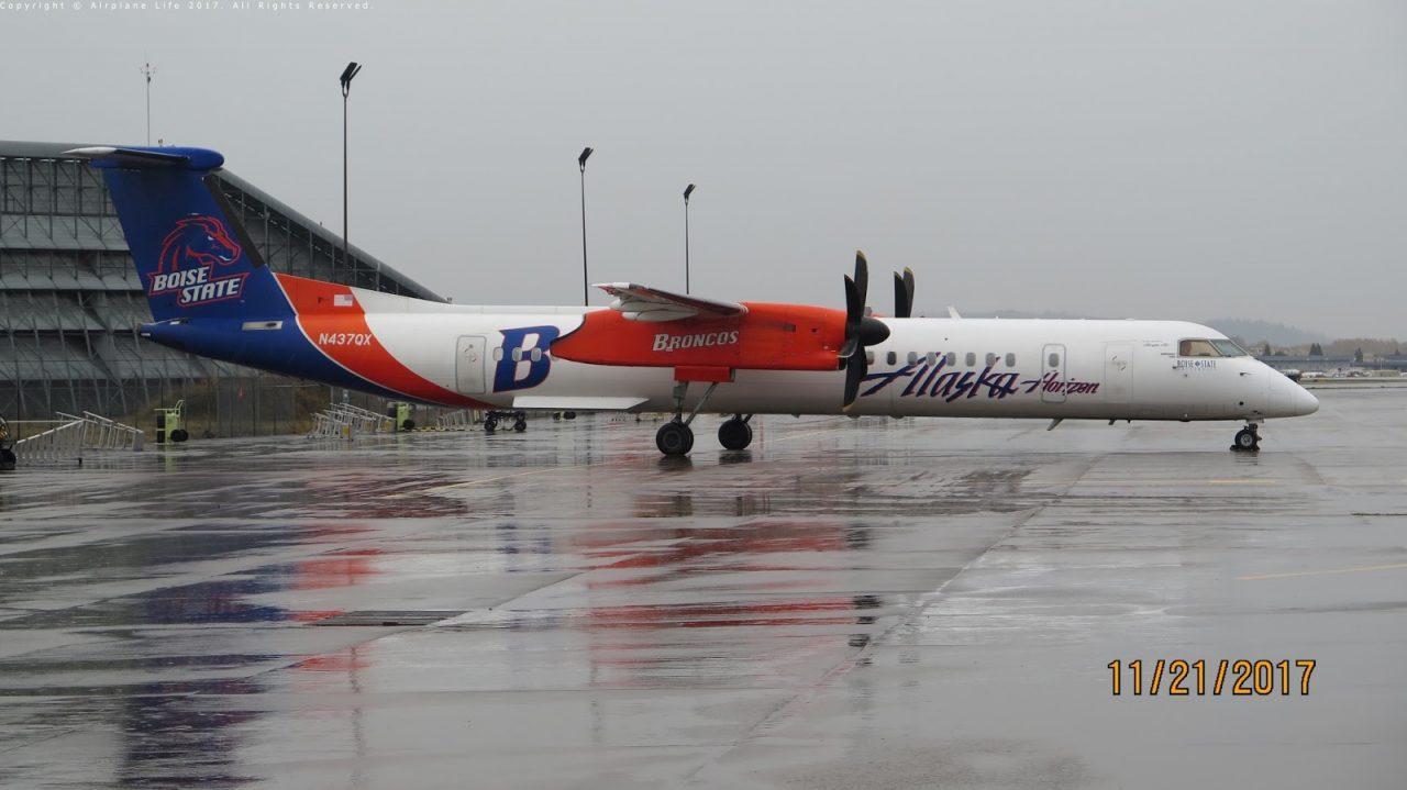 Boise State Broncos N437QX Horizon Alaska Bombardier Q400
