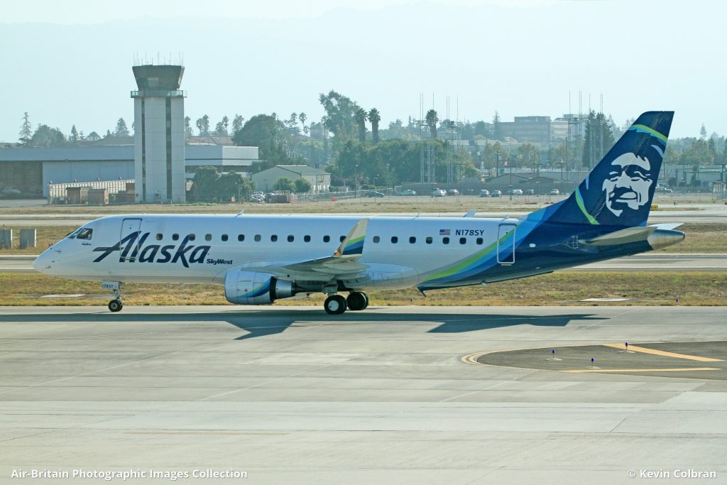 Embraer ERJ-170-200LR (ERJ-175) · Alaska Airlines (AS : ASA) · San Jose - International (Norman Y Mineta) (SJC : KSJC), USA - California @Kevin Colbran