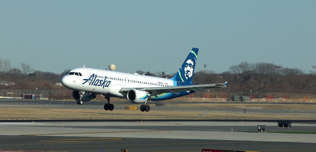alaska airline airbus a320-200 spotted on jfk airport new york city