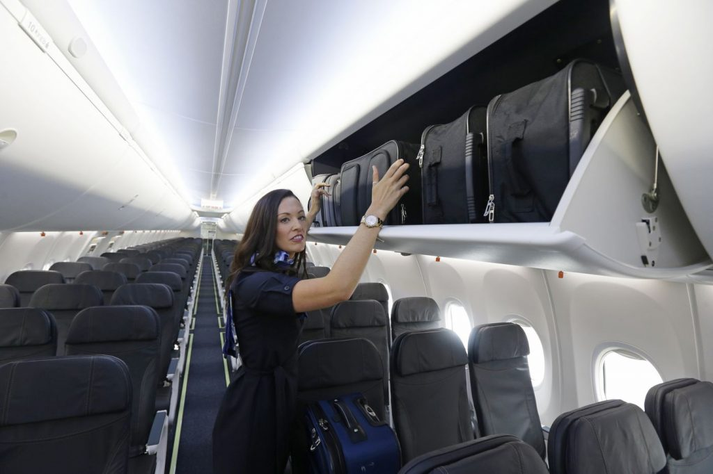 alaska airlines boeing 737-900ER new cabin feature and more space