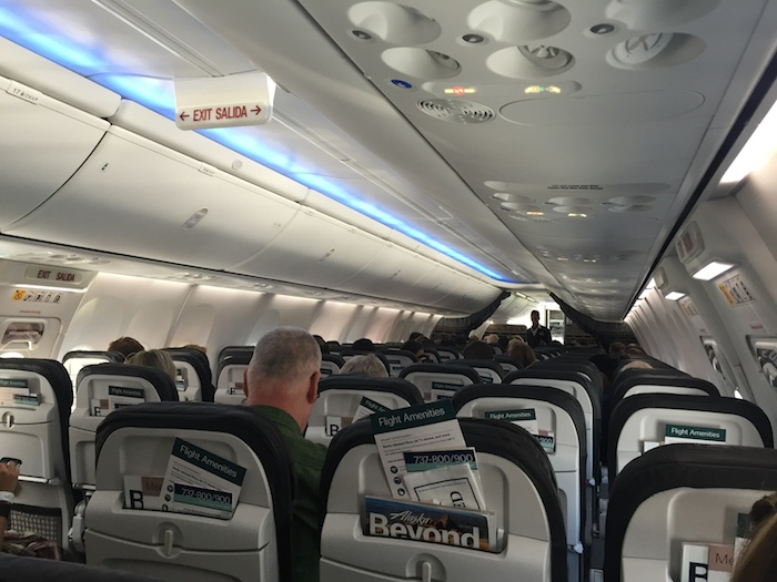 alaska airlines boeing 737-900ER premium class cabin interior