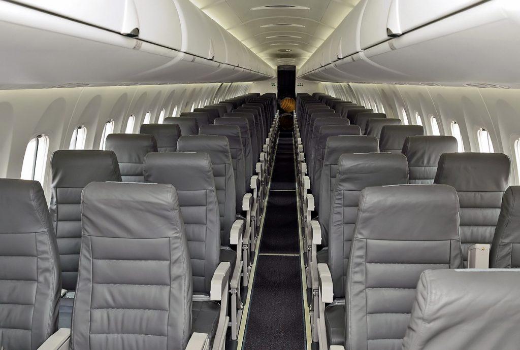 alaska airlines bombardier dash 8-q400 interior cabin