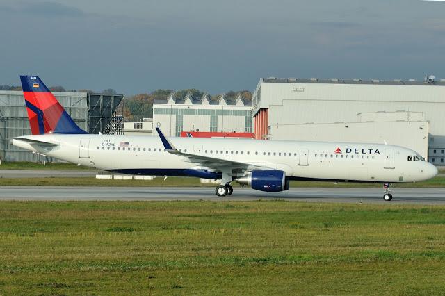 Airbus A321-211SL Delta Air Lines D-AZAD N313DN (MSN 7381) Hamburg Finkenwerder Airport