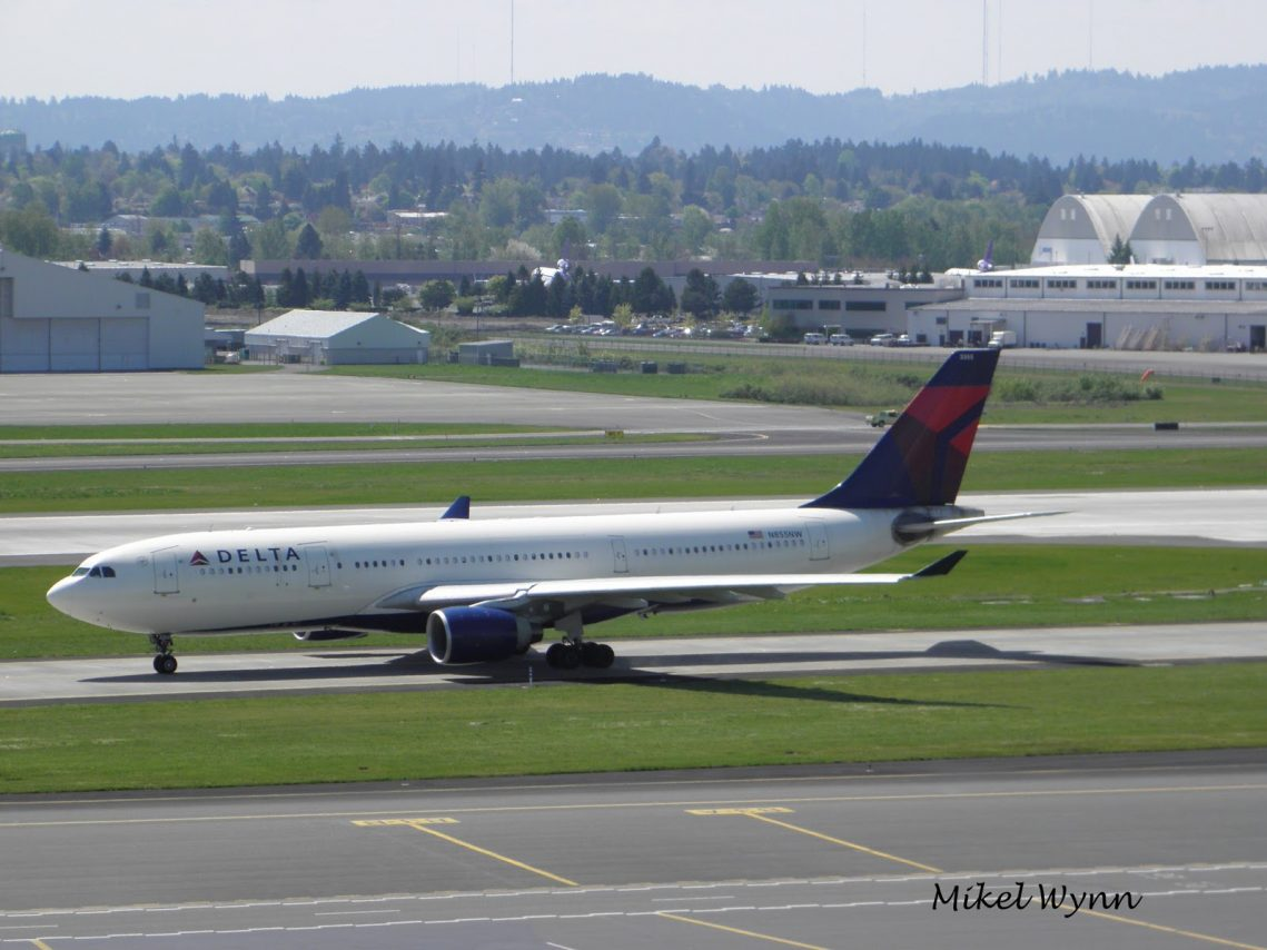 Airbus A330-223 (N855NW) Delta Air Lines Powered by two Pratt & Whitney PW4168A:4170 engines @Mikel Wynn