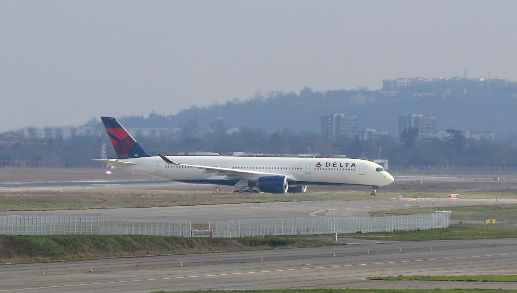 Airbus A350-941 Delta Air Lines Wide Body Fleet N507DN Taxiing on test flight