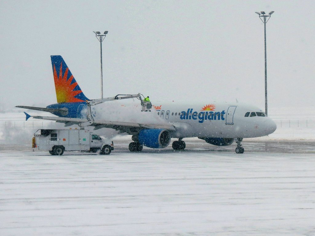 Allegiant Air Airbus A320-200 at Gerald R. Ford International Airport