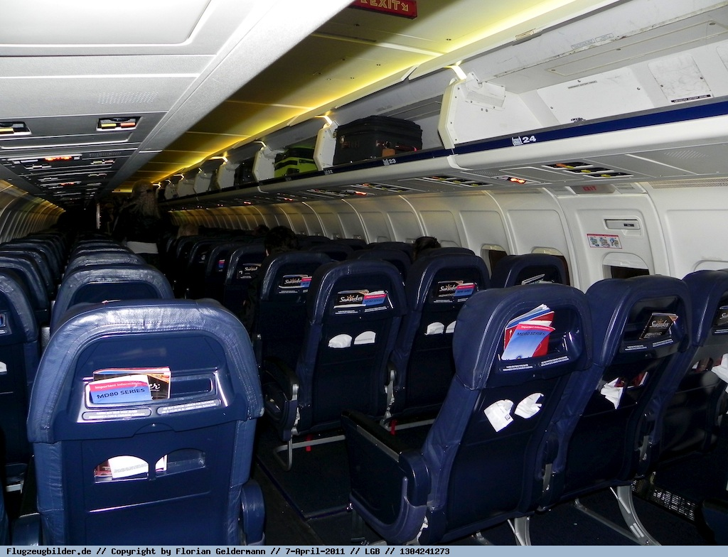 Allegiant Air McDonnell Douglass MD-83 Seats Interior Cabin Photo- Florian Geldermann : Source- PlanePictures.Net