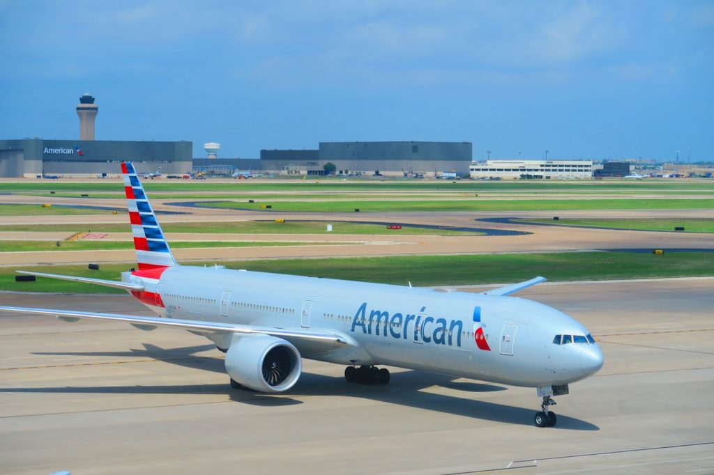 American Airlines 777-300ER from Dallas to Hong Kong