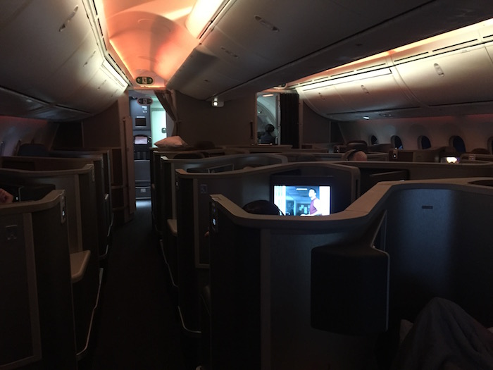 American Airlines 787-8 Dreamliner business class cabin photos