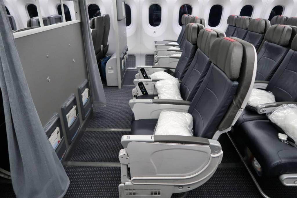 American Airlines 787-9 (789) Dreamliner MainCabinExtra bulkhead legroom