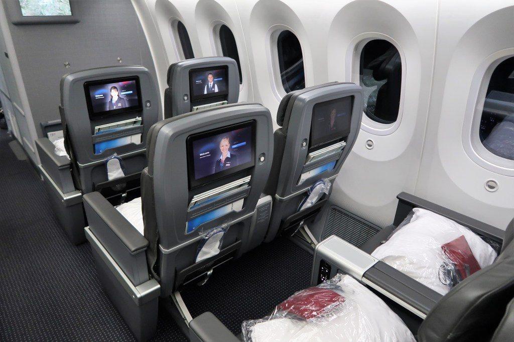 American Airlines 787-9 (789) Dreamliner Premium Economy IFE seatback
