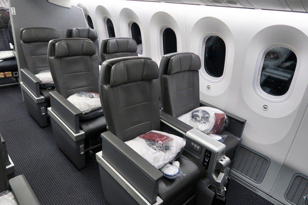 American Airlines 787-9 (789) Dreamliner Premium-Economy window seat pairs
