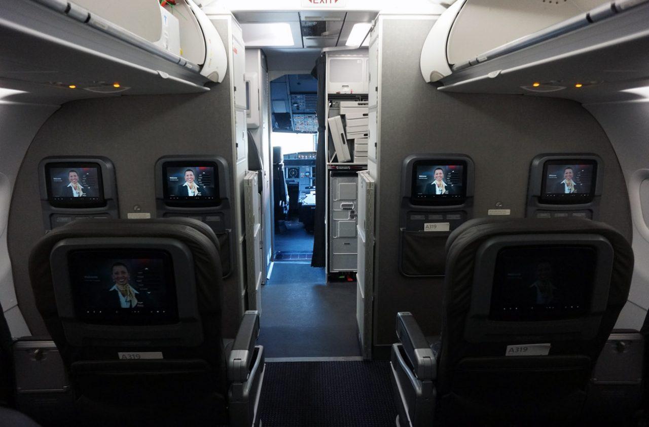American Airlines Airbus A319 100 Cabin Interior Design