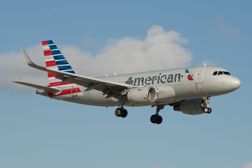 American Airlines Airbus A319 N93003