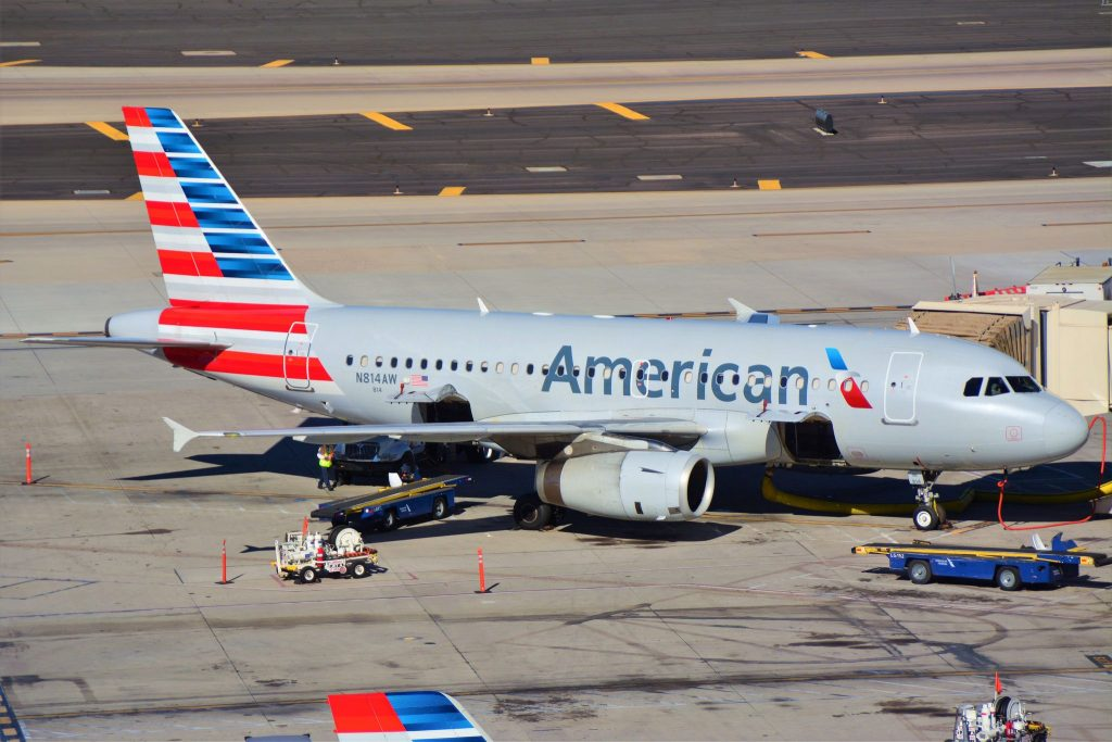 American Airlines Airbus A319 at Phoenix Sky Harbor International Airport (KPHX) N814AW