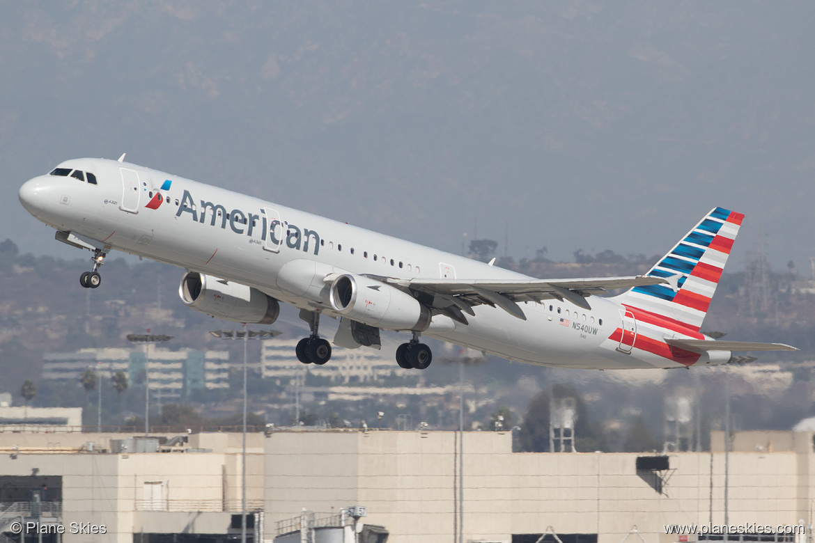 American Airlines Airbus A321-200 N540UW at Los Angeles International Airport (KLAX:LAX) @Plane Skies