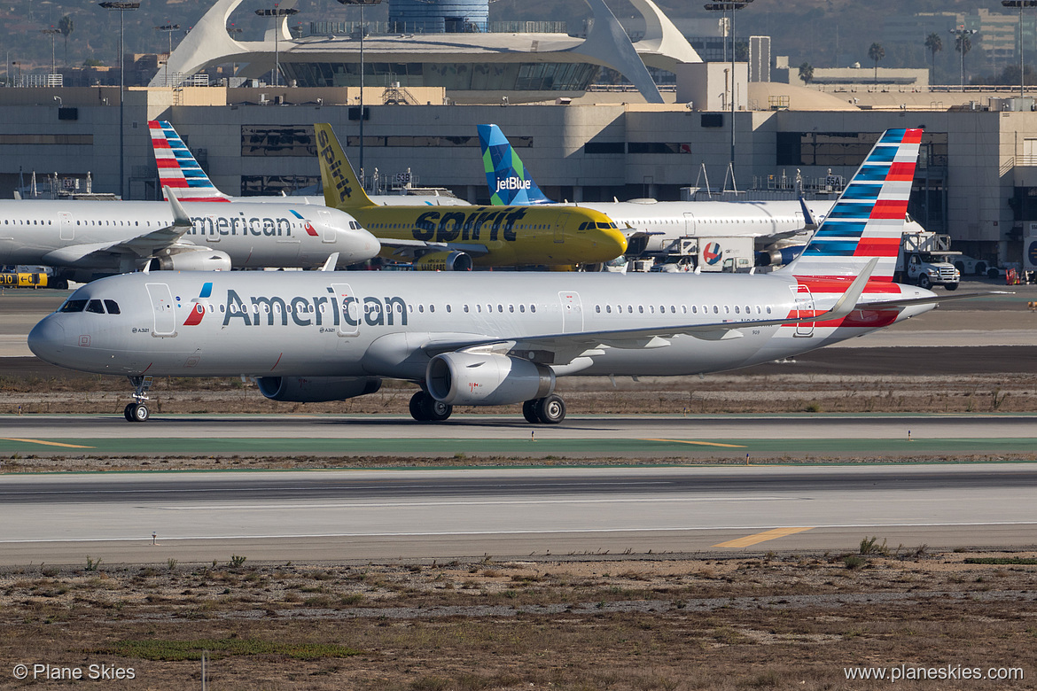American Airlines Airbus A321-200 N909AM at Los Angeles International Airport (KLAX:LAX) @Plane Skies