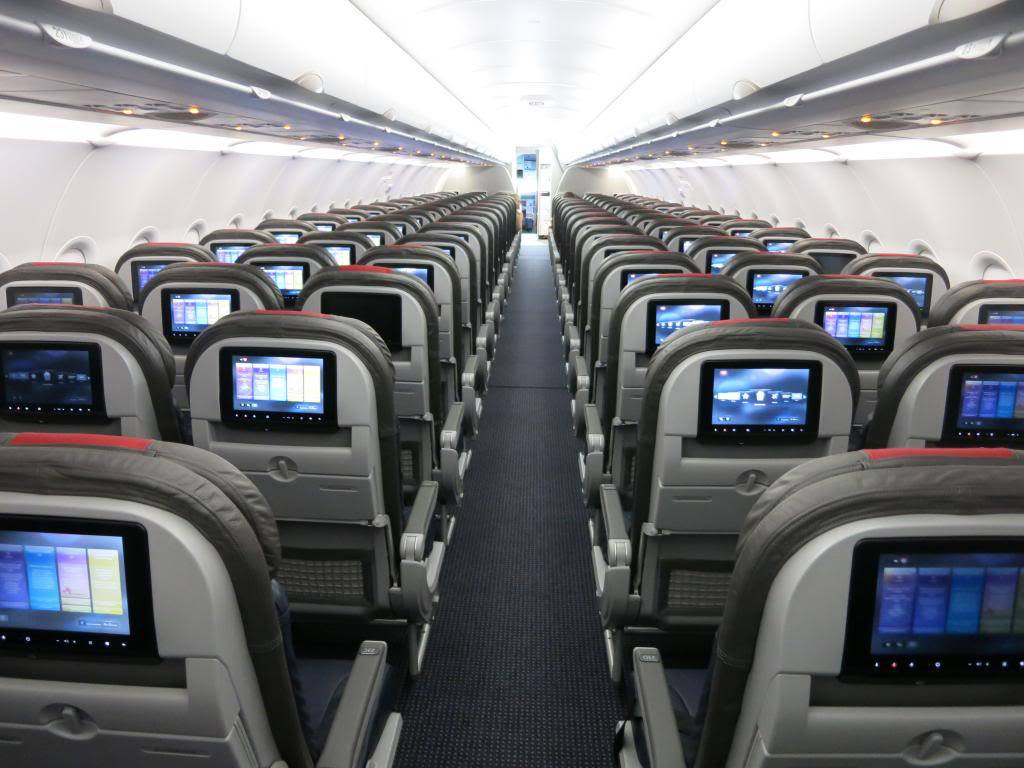 American Airlines Airbus A321-200 Seating Row Configuration