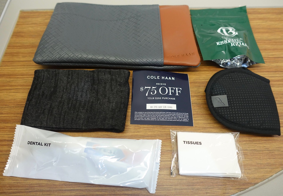American Airlines Airbus A321 First Class Amenity Kit