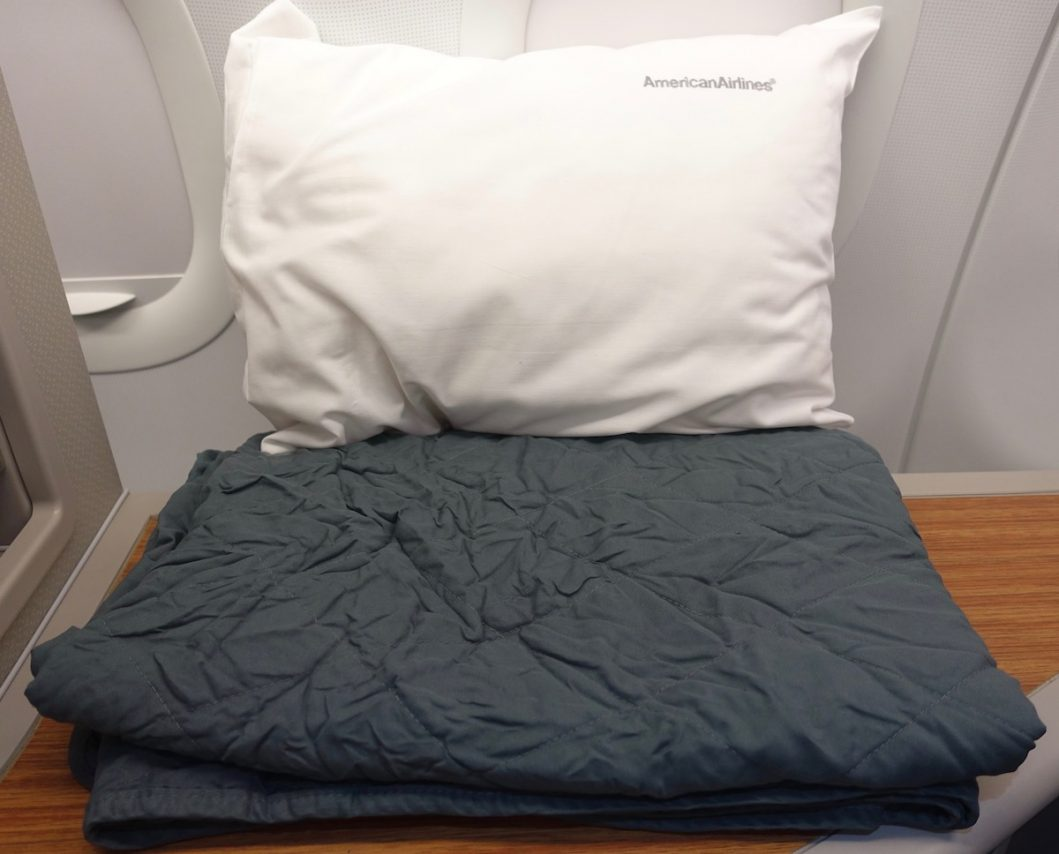 American Airlines Airbus A321 First Class Pillow and Blanket