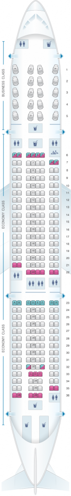 American Airlines Airbus A330-200 Seating Chart and Class Configuration