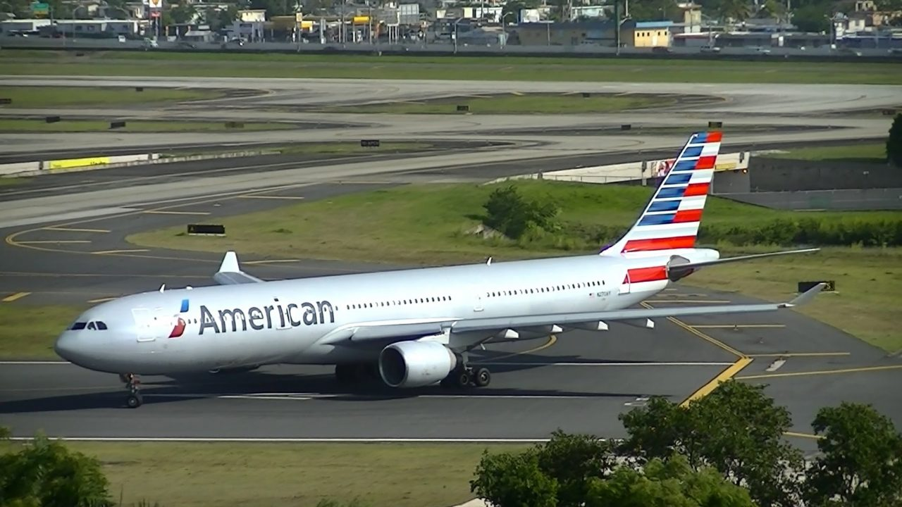 American Airlines Airbus A330-300 Taxiing at Runaway