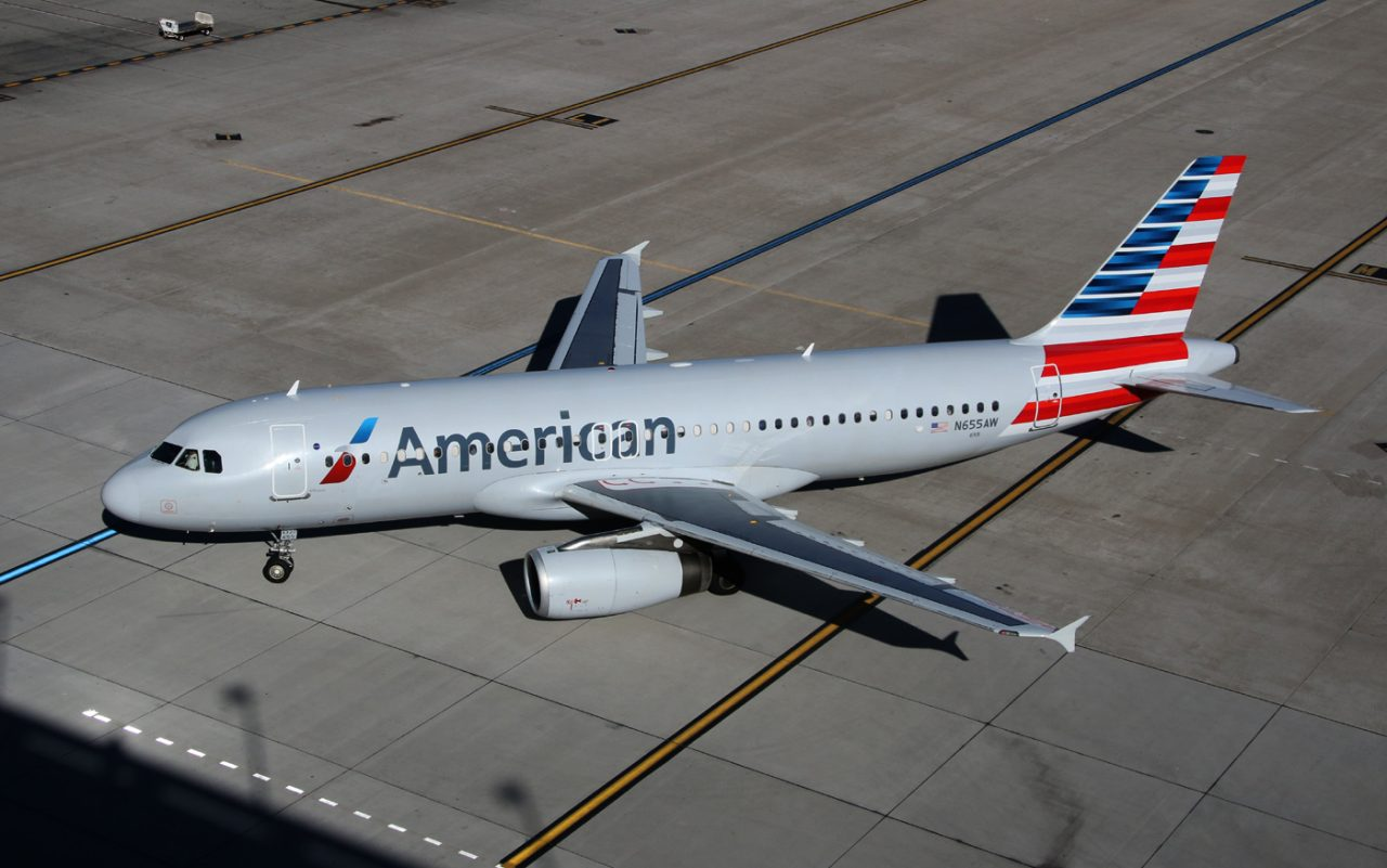 American Airlines Aircraft Airbus A320-232 N655AW