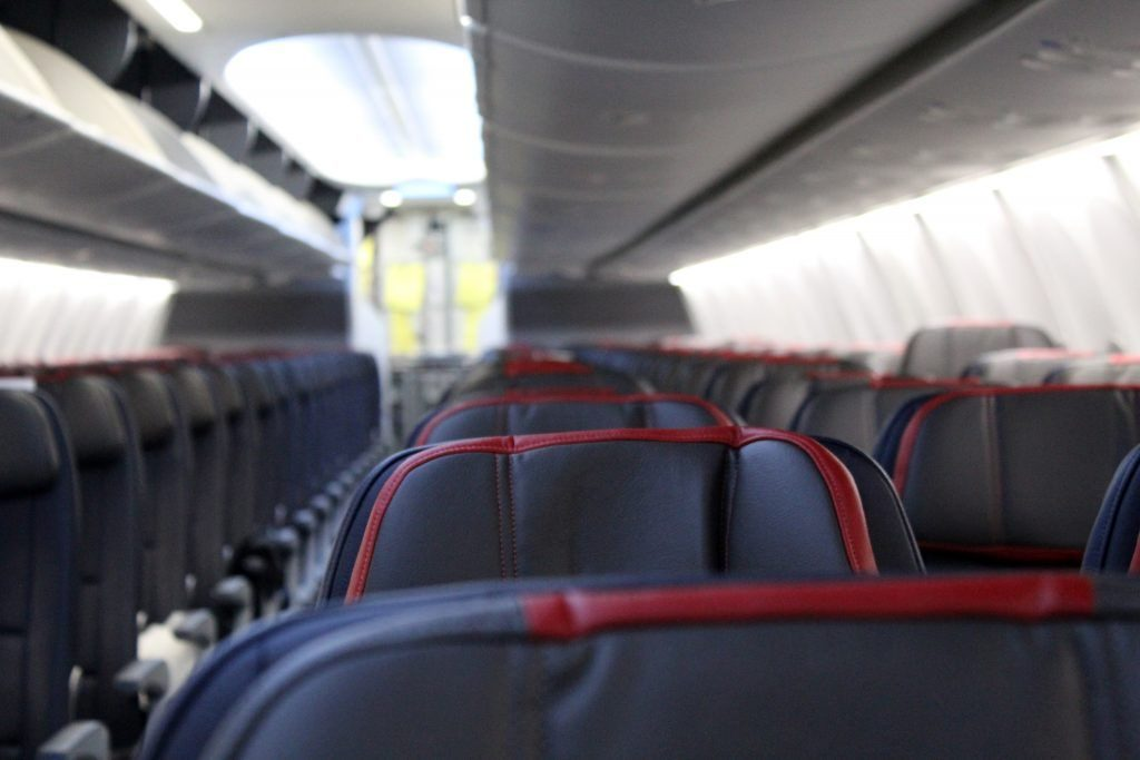 American Airlines Boeing 737 Max 8 126 seats in the main cabin and 30 in main cabin with extra space
