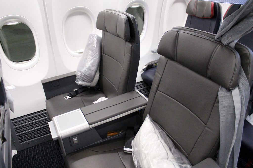 American Airlines Boeing 737 Max 8 Business Class Leather Seats Photos