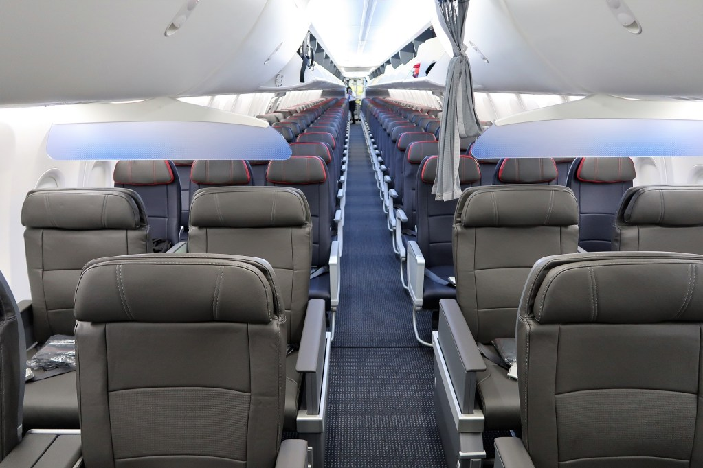 American Airlines Boeing 737 Max 8 N304RB Cabin Interior Design